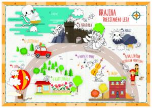 mapa farebná