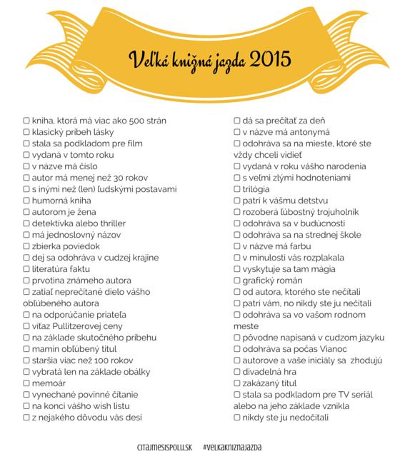 Veľká knižná jazda 2015