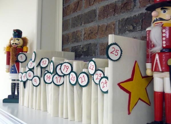 knizny adventny kalendar v bielom
